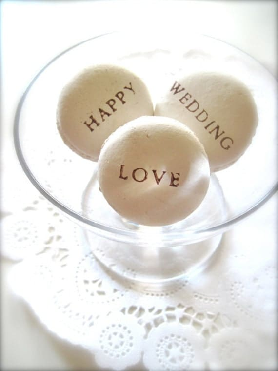 Happy Wedding Love Ceramic Macaron Sachet-Fragrance Object
