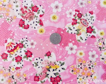 "USD8 - New romantic sakura - pink - 1 yard - cotton fabric - flower - Check out with code ""sale15"" to save 15% off"