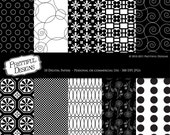Digital Paper Pack - Personal or Commercial Use - Black and White