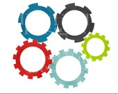 Robot Clip Art - Sprockets and Gears - Personal And Commercial Use