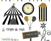 Night Circus Clip Art - Personal and Commercial Use