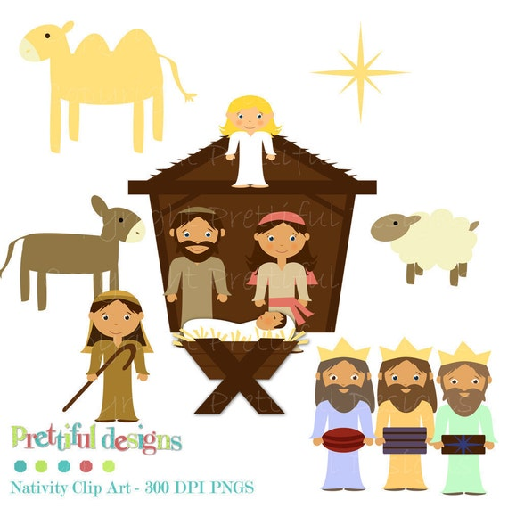 Christmas Nativity Clip Art - Personal and Commercial Use