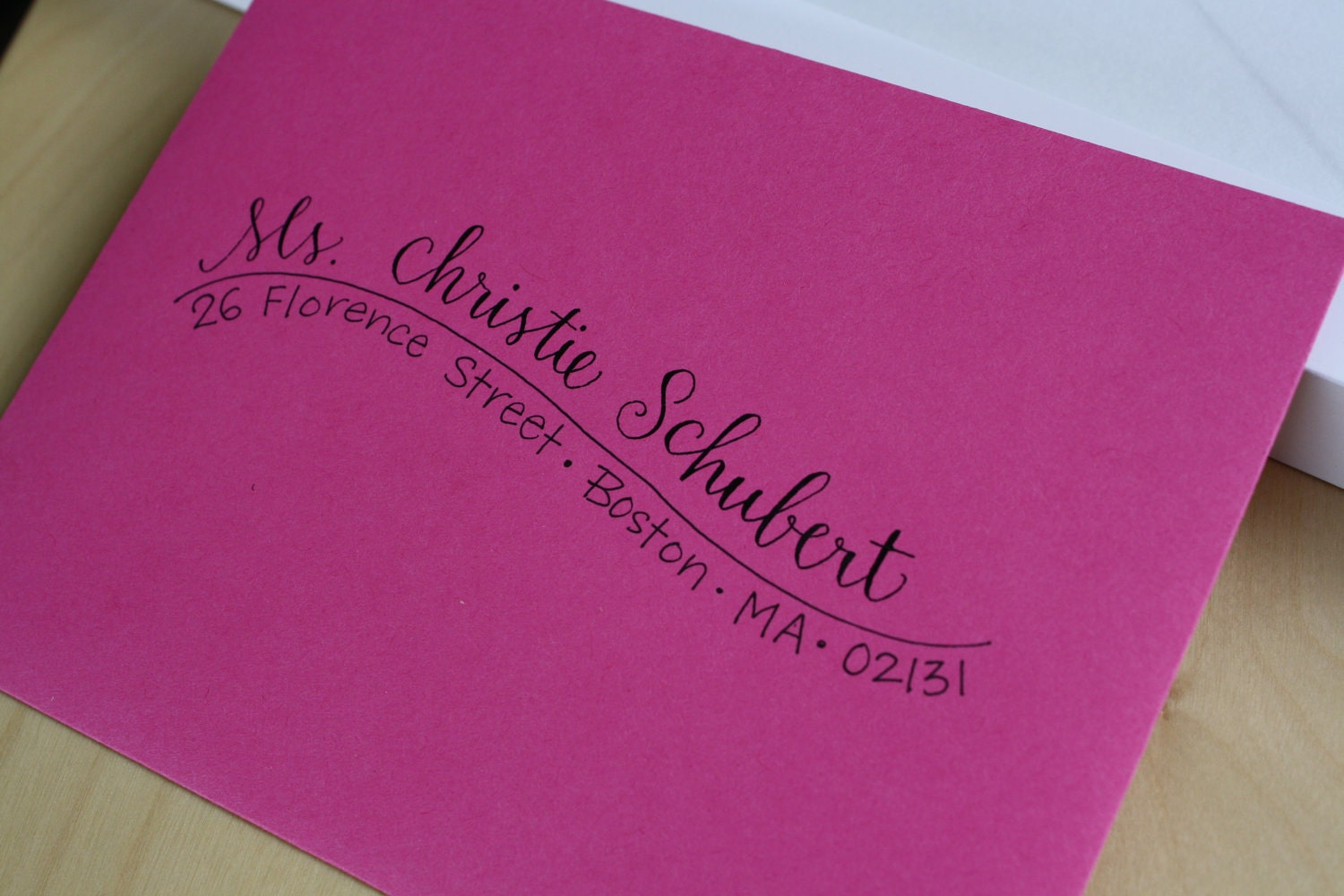 pin hand addressed envelopes in calligraphy by