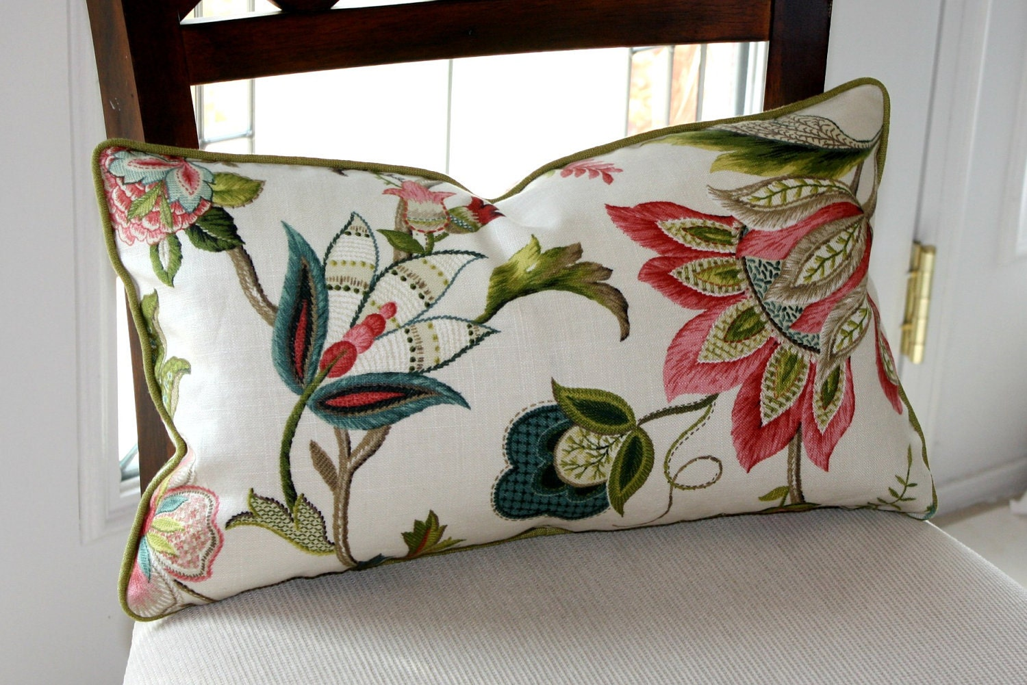 Decorative Pillow Cover P Kaufmann Brissac in Jewel Lumbar