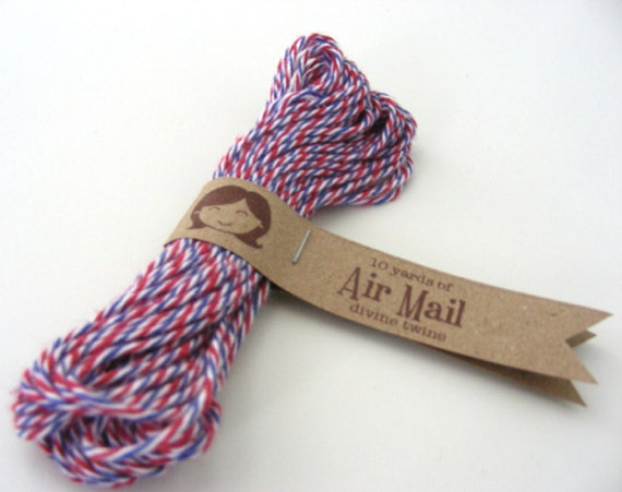 Divine Twine - Air Mail (Red, White and Blue) - 10 yards