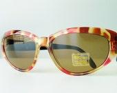 RESERVED for Poorkid / vintage 80s cat eye sunglasses / tortoise shell