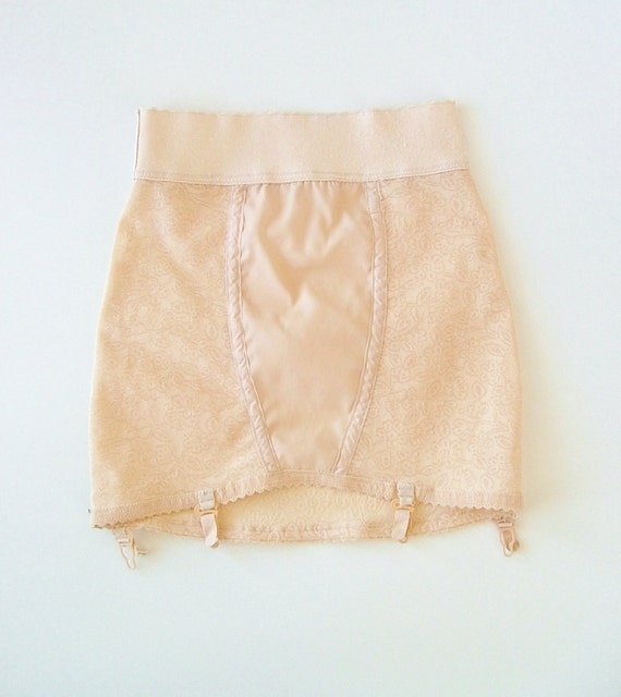 Vintage 50s Peach Girdle Glamour Shape / Small / Retro / Burlesque Lingerie / Pin up