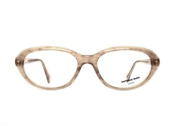 oval brown vintage glasses - quality womens eyeglasses frames - Antonio Miro designer eyewear - Mod vintage eye glasses store