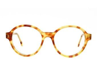Big Round Tortoise Vintage Eyeglasses - Bowie Pastel