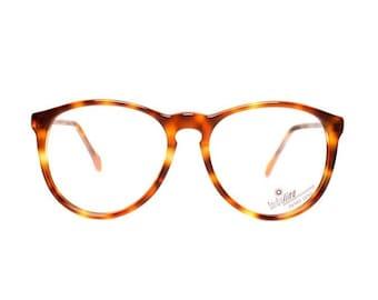 Brown Tortoise Round Vintage Eyeglasses - Shell 658 - NEW 1980's glasses