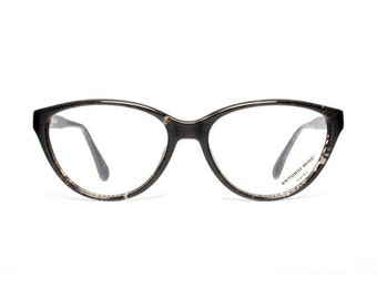 Black Vintage Cat Eye Glasses - Antonio Miro - Mirlo - 1980's eyeglasses for women