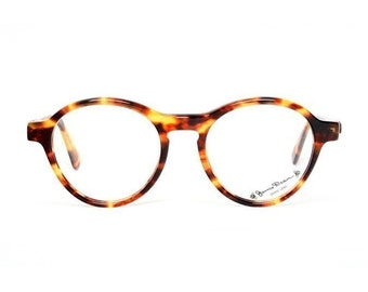 brown tortoise vintage eyeglasses - James Dean round glasses - preppy panto model for him and her - clear lenses optional - albin