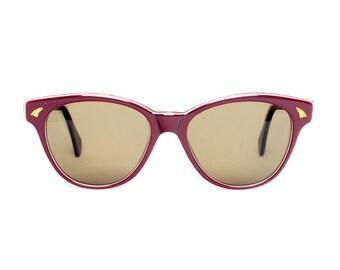 Dark Red Wayfarer Vintage Sunglasses - Bonny Granate - 1980's NOS