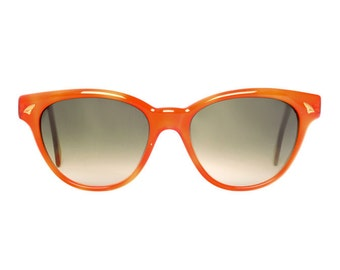 vintage orange sunglasses - original vintage wayfarer sunglasses from the 80s - cateye sun glasses for women - bonny naranja