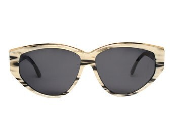 paco rabanne sunglasses - vintage designer sunglasses gold black grey - 80s new old stock - lovely christmas gift for women