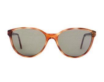 Brown Vintage Sunglasses - Lorena bombon - tortoise - NOS 1980's - sun glasses for women