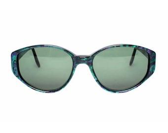 Green / Purple Vintage Sunglasses - Glenda sun glasses for women - MODvintageshop
