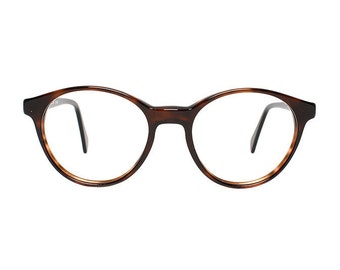 Brown Vintage Eyeglasses - Arizona Castor - round Glasses