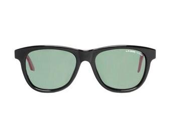 Black / Pink Wayfarer Vintage Sunglasses - L.A. GEAR Aerobics wayfarer style - NEW LA Gear 1980's - nos