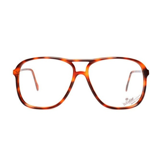 vintage aviator glasses - dark brown tortoise vintage eyeglasses aviator frames - 1980s - amber brown eye glasses