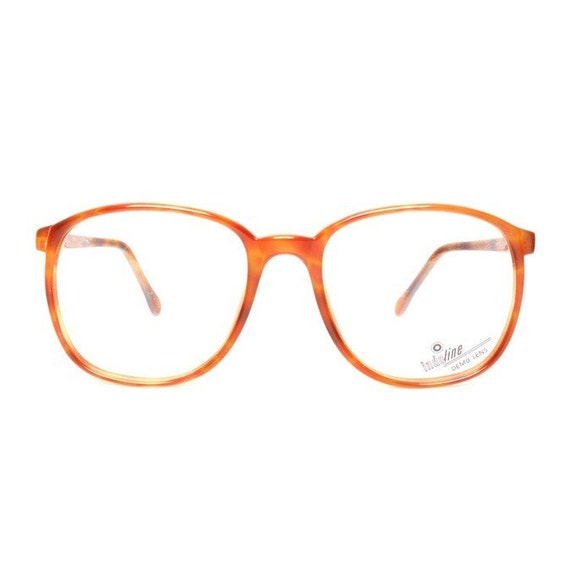 Orange Brown Vintage Eyeglasses - Big square glasses - Sable 632 - oversized nerd