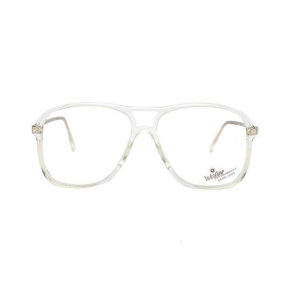 Aviator Crystal Transparent Vintage Eyeglasses