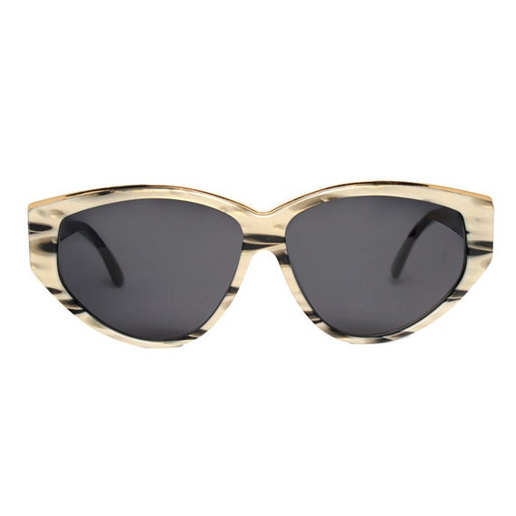 Paco Rabanne vintage Sunglasses - designer - gold / black / grey - original 1980's new oldstock