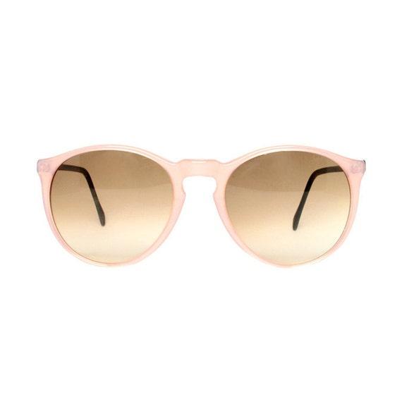 Pink Round Vintage Sunglasses - Samba Rosa Glace