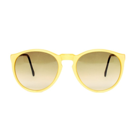 Small Yellow round Vintage Sunglasses - Samba amarillo glace JR - junior