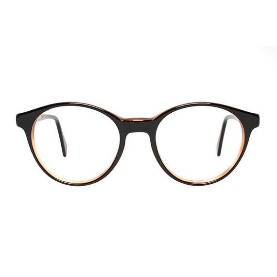 vintage round glasses frames - brown & black glasses - vintage eyeglasses for men and women - 80s deadstock - clear lens option - arizona ng