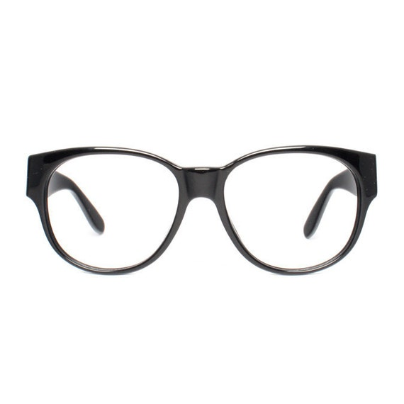 Big Black Frame Nerd Glasses : large vintage eyeglasses oversized black glasses frames