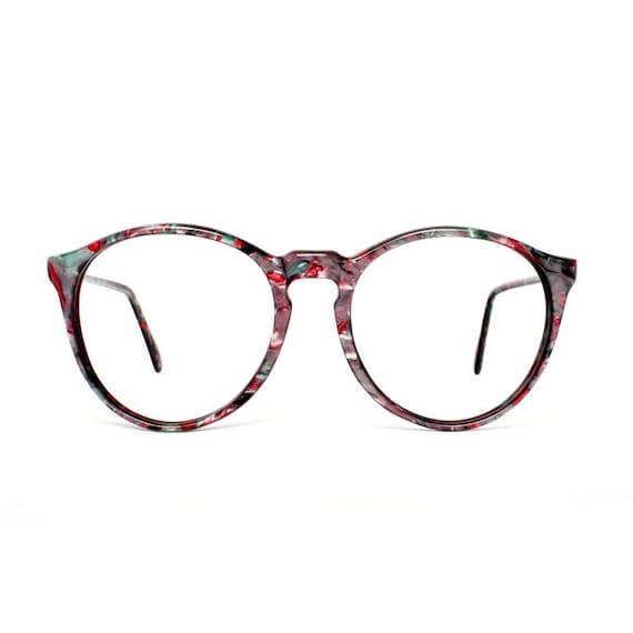 Purple / Green / Pink Round Vintage Eyeglasses - Onyx