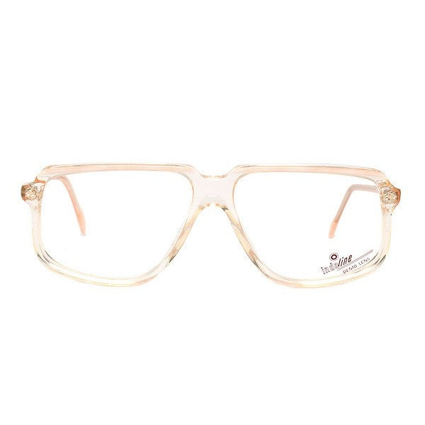 1521536af66 beige transparent vintage eyeglasses - square flat top glasses frames -  1980 s deadstock - clear glasses