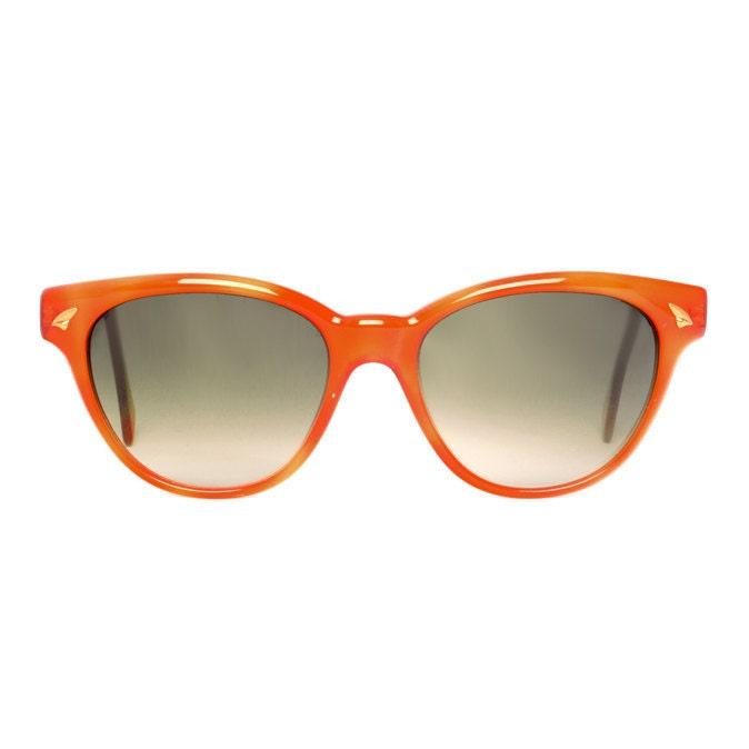 5cf5550c76 vintage orange sunglasses - original vintage wayfarer sunglasses from the  80s - cateye sun glasses for