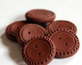 Brown buttons - set of 6