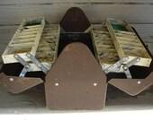 Vintage Brown Metal Philson Fishing Tackle Box