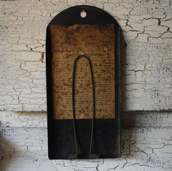 antique metal receipt holder