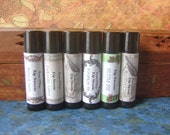 Handmade Lip Balm, Pick Five Tubes, Natural Beeswax Lip Balm with Cocoa and Shea Butter