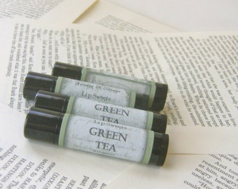 Green Tea Lip Balm with Shea and Cocoa Butter
