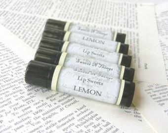 Lemon Lip Balm, All Natural Beeswax Balm with Jojoba and Shea