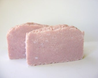 Sea Salt Spa Bar, Pomegranate, Handmade Soap Sea Salt Soap