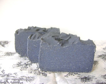 Bay Rum Soap, Sea Salt Bar with Activated Charcoal for Pirates