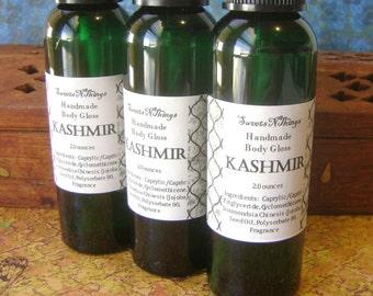 Kashmir Body Gloss, Patchouli Sandalwood, Bath and Body Oil