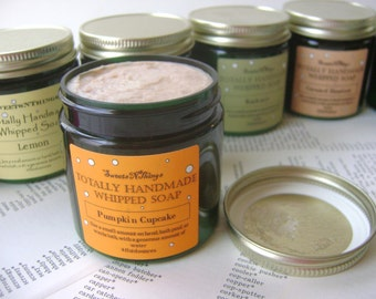 Totally Handmade Whipped Soap, Pumpkin Cupcake Scent