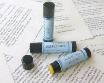 Peppermint Lip Balm with Shea and Cocoa Butter