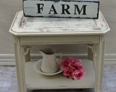 FarmHouse Chic sign on old plank, Hand painted sign