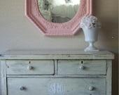 Beautiful Shabby Chic Pink Mirror