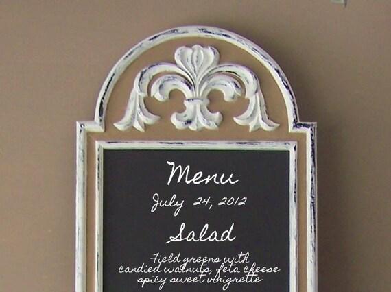 French Bistro Long Chalkboard, Fluer De Lis, Wedding Menu