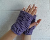 Kylie Wristlets in Lavender - Hand Wrist Warmers Fingerless Gloves Gauntlets Mittens - Ready to Ship - FREE US Shipping