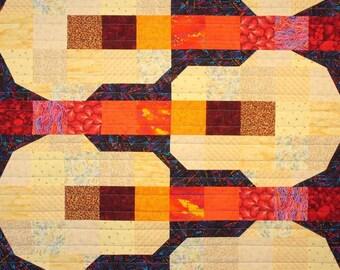 Soft Guitars Patchwork Quilt Block Pattern